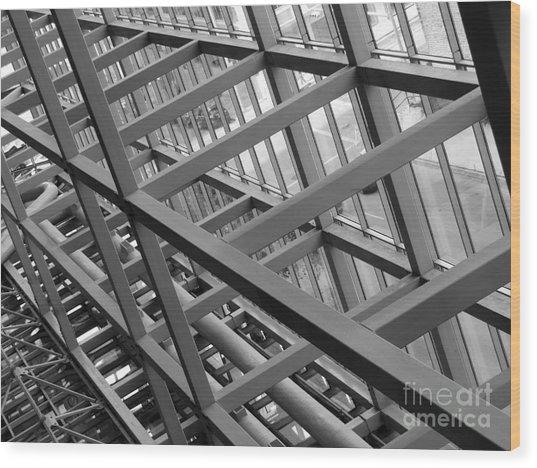Grid Iron Wood Print by Kimberley Bennett