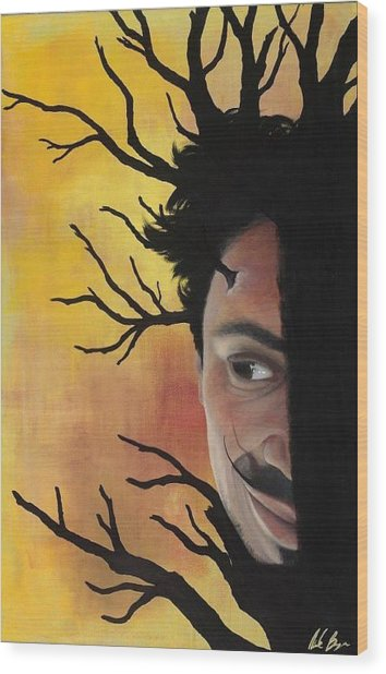Growth Of A Man Wood Print by Nicole Williams