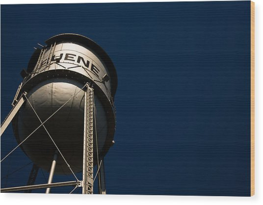 Gruene Water Tower Wood Print