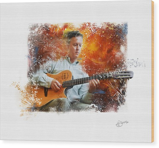 Guitar Jazz Wood Print