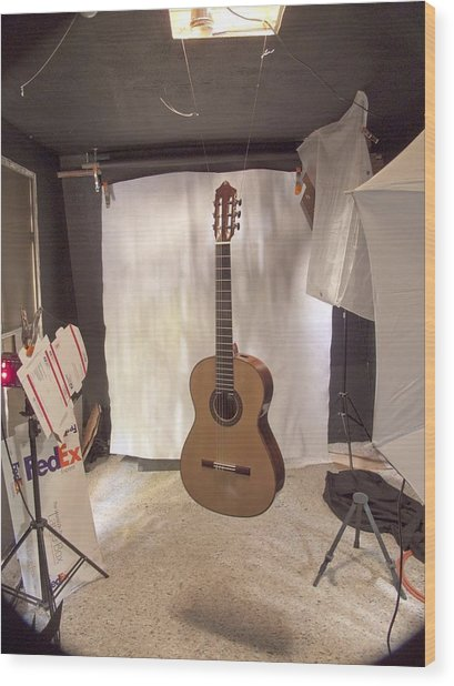 Guitar Wood Print by Larry Darnell