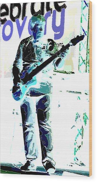Guitarrist Wood Print by David Alvarez