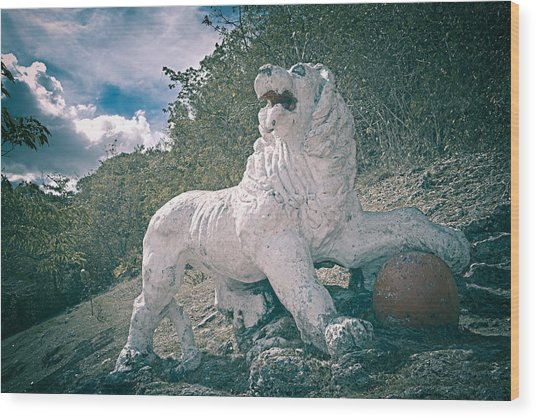 Gun Hill Lion Wood Print