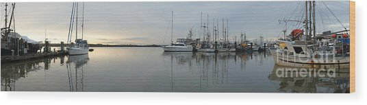 Habour Morning Wood Print by James Yang