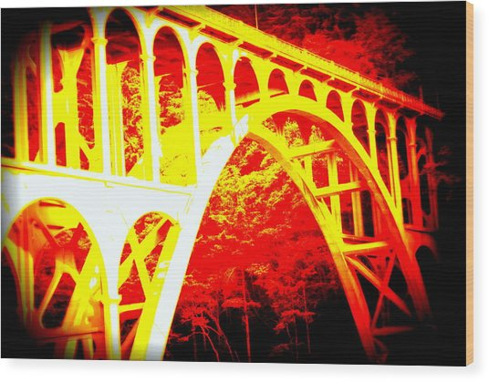 Haceta Head Bridge In Abstract Wood Print