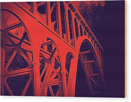 Haceta Head Bridge Wood Print