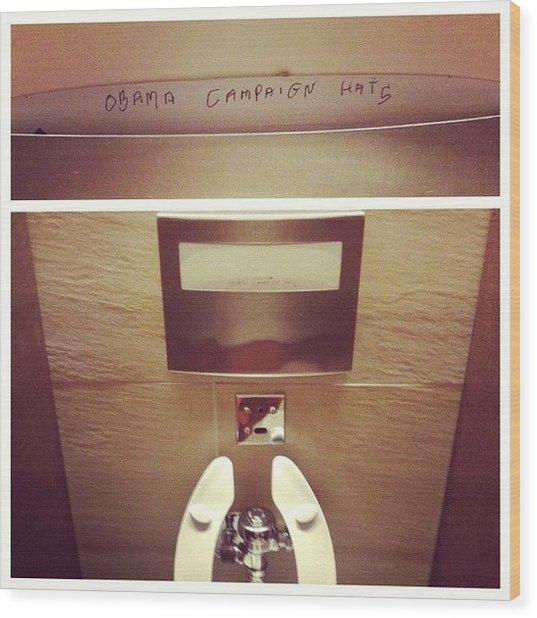 Hahaha Campaign Hats Wood Print