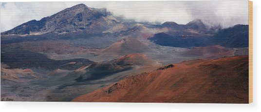 Haleakala Volcano Wood Print