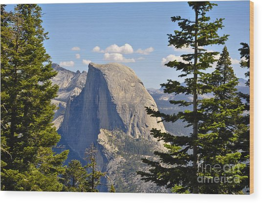 Half Dome Wood Print by Camille Lyver