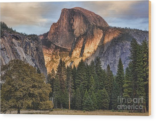 Half Dome Upgraded I Wood Print