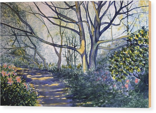 Halfway There Dane's Dyke Wood Print
