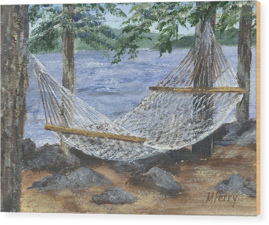Hammock At Bear Island Wood Print