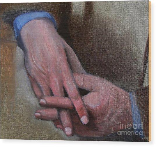 Hands In Oils Wood Print by Kostas Koutsoukanidis
