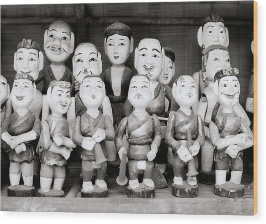 Hanoi Water Puppets Wood Print