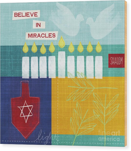 Hanukkah Miracles Wood Print