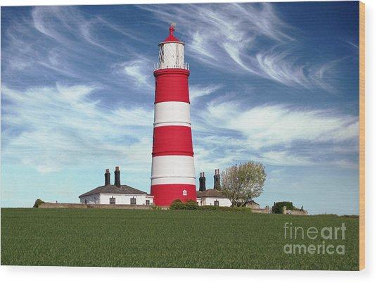 Happisburgh Lighthouse - Norfolk Wood Print by Rod Jones