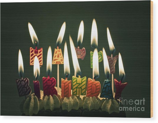 Happy Birthday Wood Print by Catherine MacBride