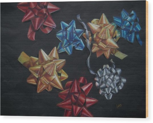 Happy Holidays Wood Print by Joanna Gates