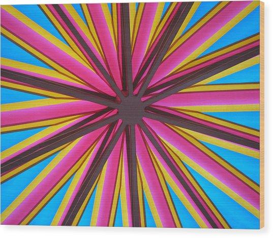 Happy Umbrella Wood Print by Bill Lucas