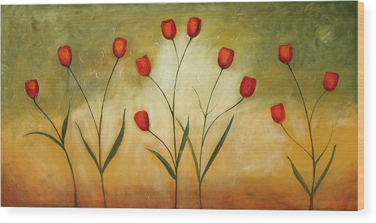 Happytulips Wood Print