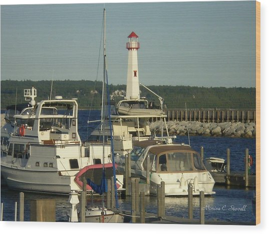 Harbor Collection - St. Ignace Mi Wood Print