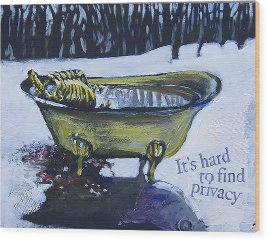 Hard To Find Privacy Wood Print
