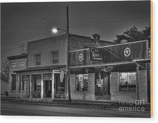 Hardware Store In Small Town Usa Wood Print by Andre Babiak