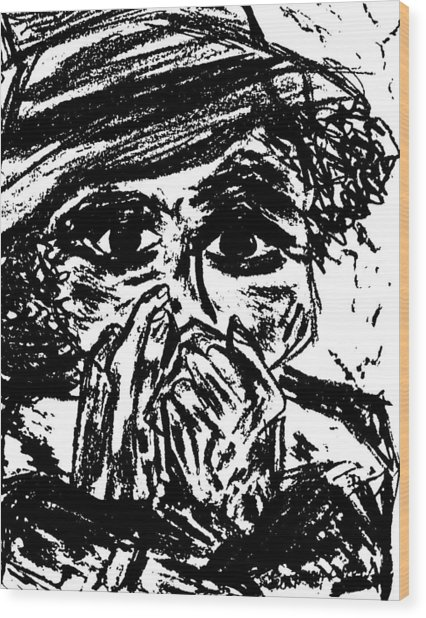 Harmonica Blues Player Wood Print by Peggy Leyva Conley