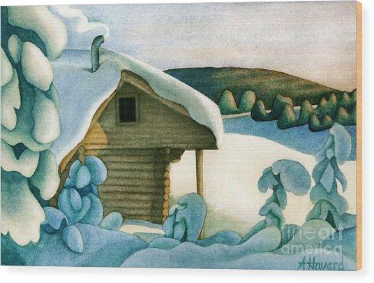 Harold Price Cabin Wood Print