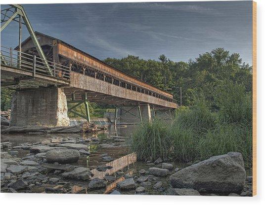 Harpersfield Road Bridge Wood Print