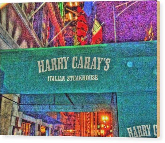 Harry Caray's Wood Print by Barry R Jones Jr