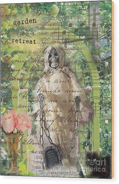 Haunted Garden Retreat Wood Print