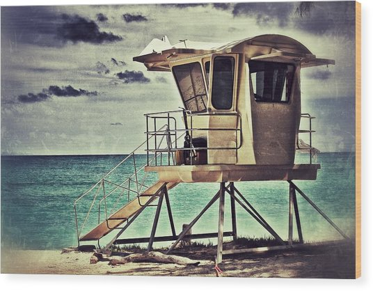 Hawaii Life Guard Tower 1 Wood Print