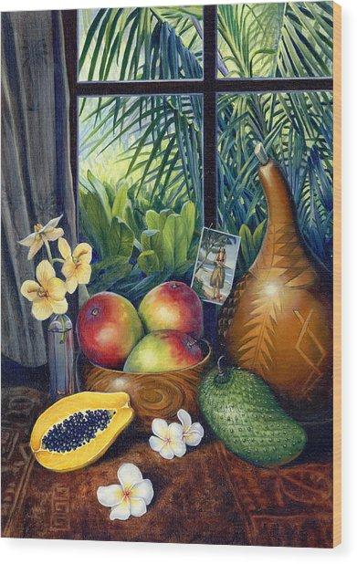 Hawaiian Still Life Wood Print