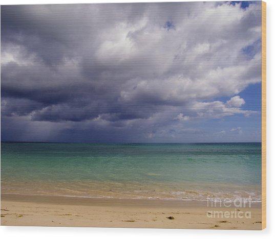 Hawaiian Storm Wood Print by Kimberley Bennett