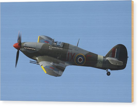 Hawker Hurricane Wood Print
