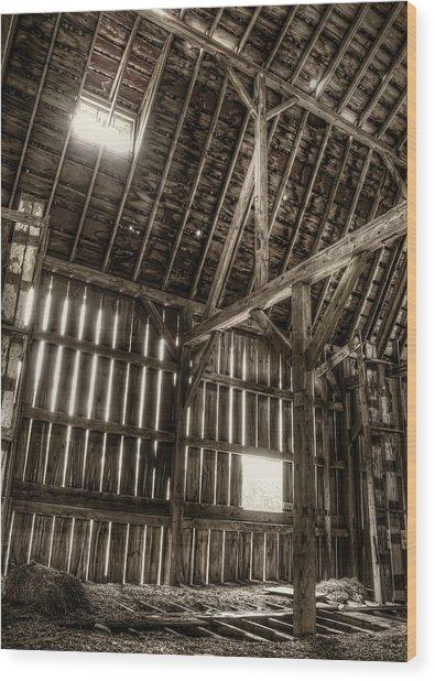 Hay Loft Wood Print