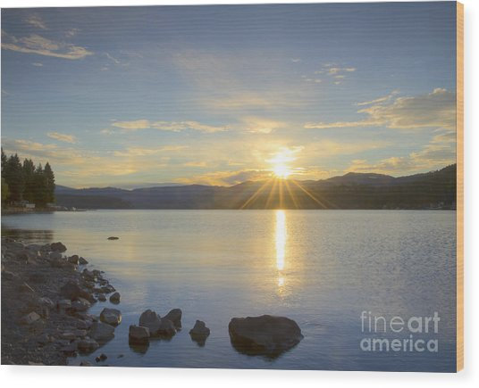 Hayden Sunrise Wood Print