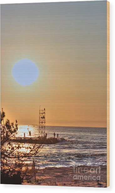 Hdr Seaview Oceanview Beach Beaches Ocean Sea Photos Pictures Photography Photo Pics Pictures Summer Wood Print by Pictures HDR