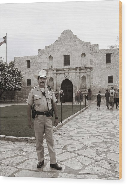 He Guards The Alamo Wood Print