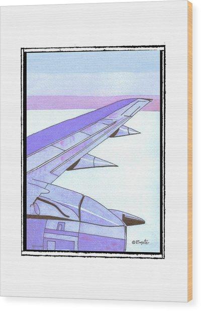 Headed Somewhere In Flight Wood Print by Robert Boyette