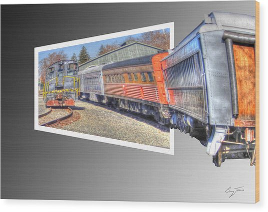 Heading In Wood Print by Barry Jones