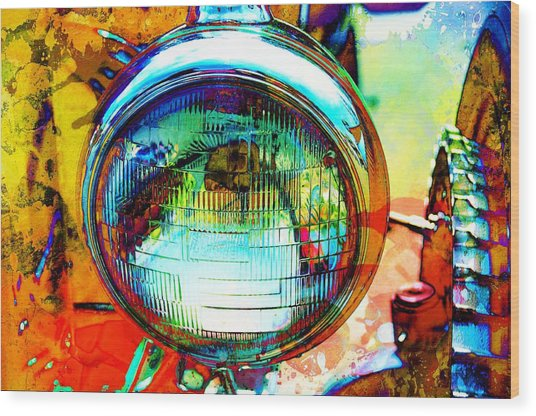 Headlight Classic Wood Print by Anthony George