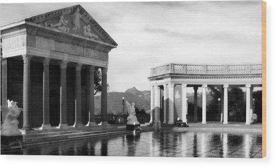 Wood Print featuring the photograph Hearst Castle Pool by Matt Hanson