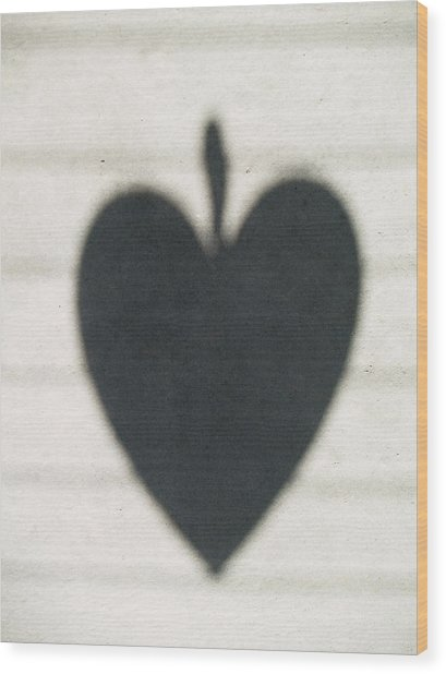 Heart On Wire I Wood Print by Laine Zunte