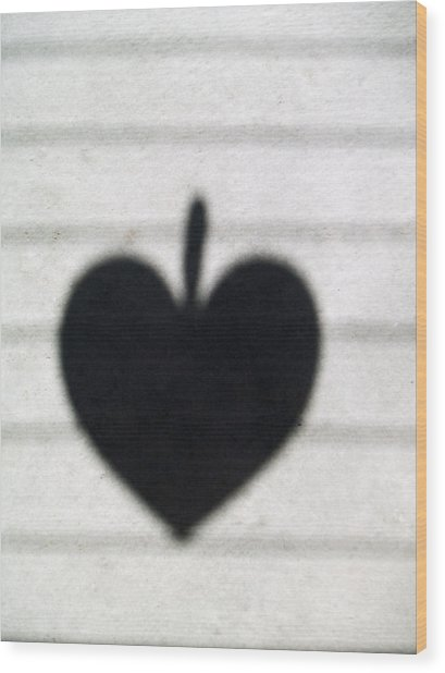 Heart On Wire II Wood Print by Laine Zunte