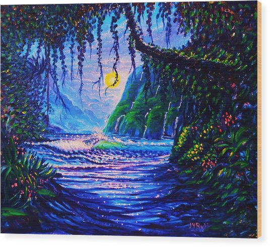Heart Path To Paradise Wood Print by Joseph   Ruff