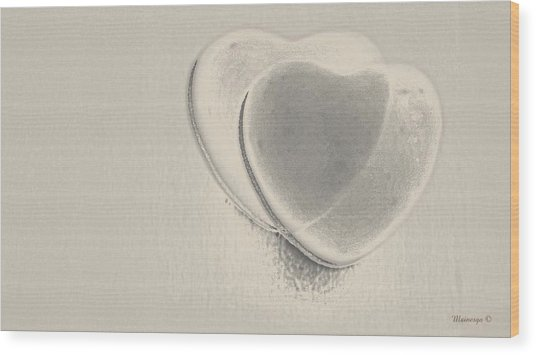 Hearts-smooth Wood Print by Ines Garay-Colomba
