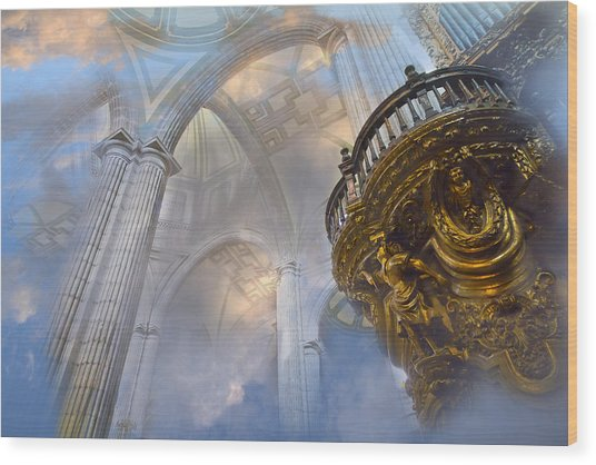 Heavenly Cathedral Wood Print