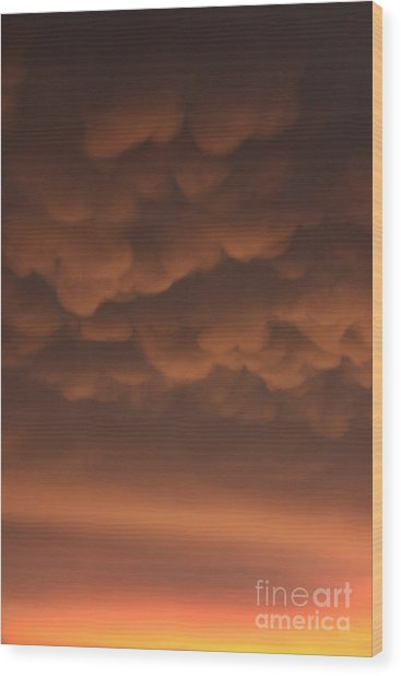 Heavy Wood Print by Bret Worrell